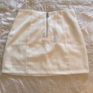 Tobi white corduroy skirt